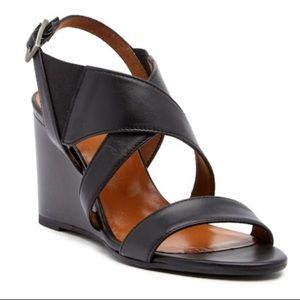 🆕 Aquatalia Nikki Nappa Black Sandals Size 9